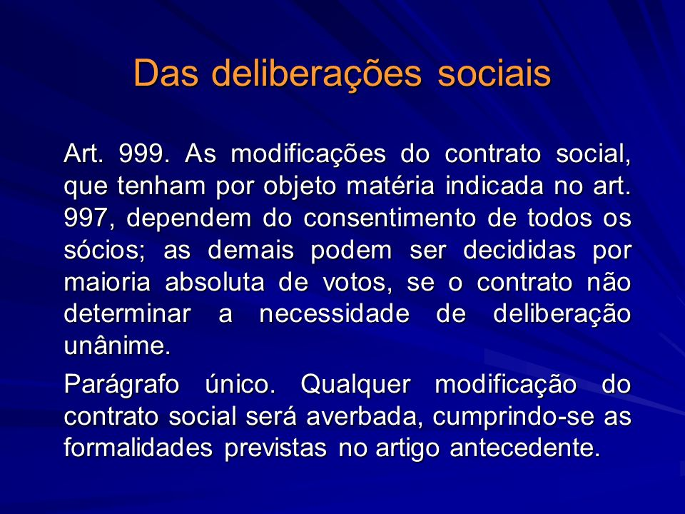 Das deliberações sociais