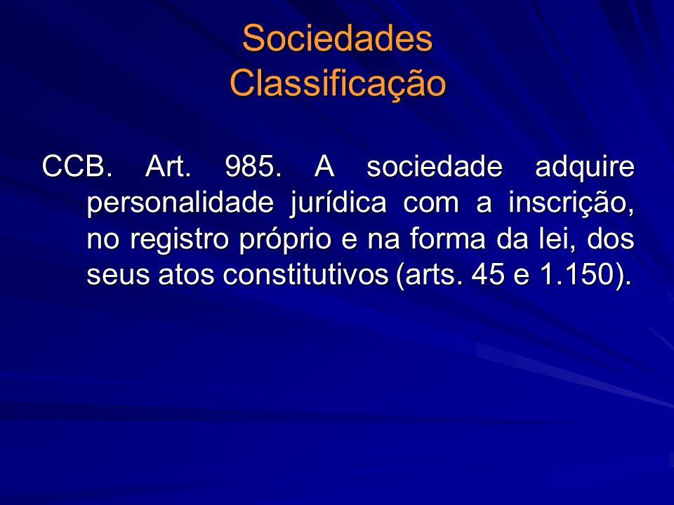 Sociedades Classificação
