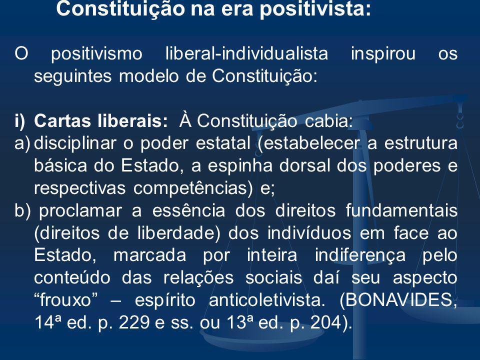 Constituição na era positivista: