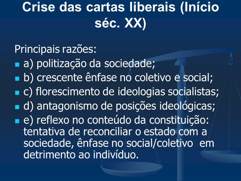 Crise das cartas liberais (Início séc. XX)