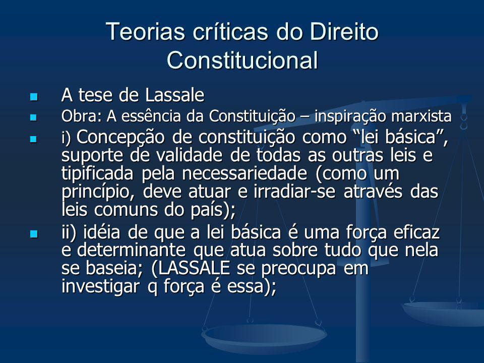 Teorias críticas do Direito Constitucional