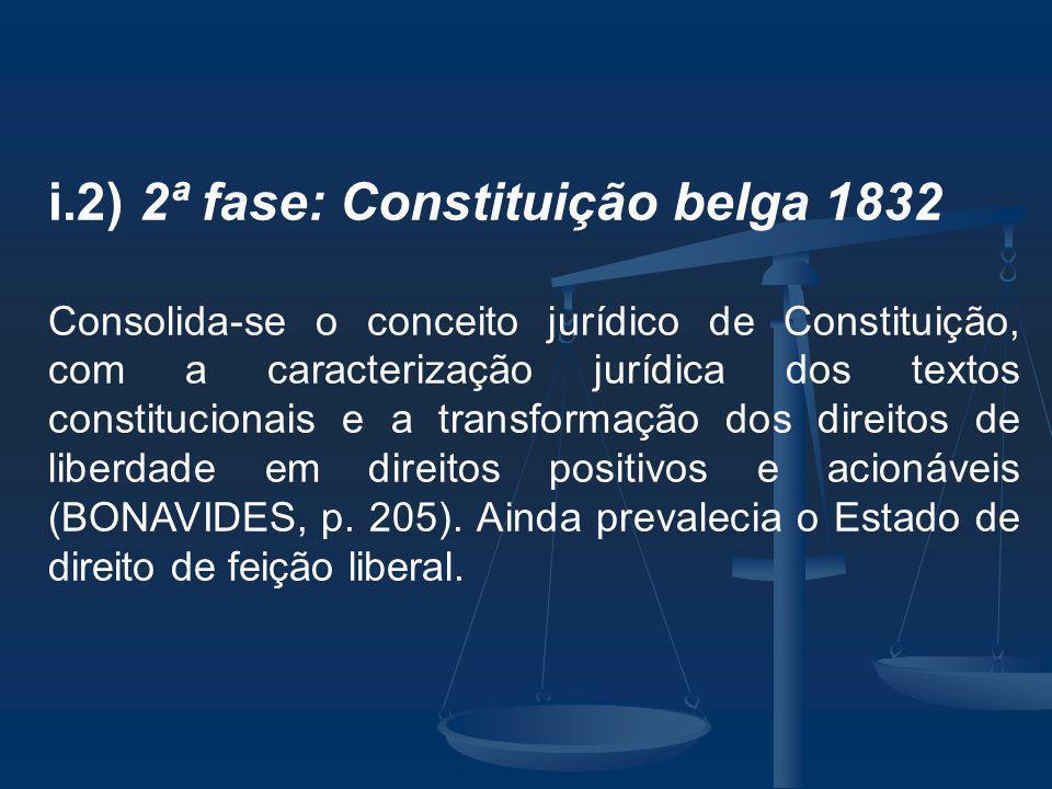 i.2) 2ª fase: Constituição belga 1832