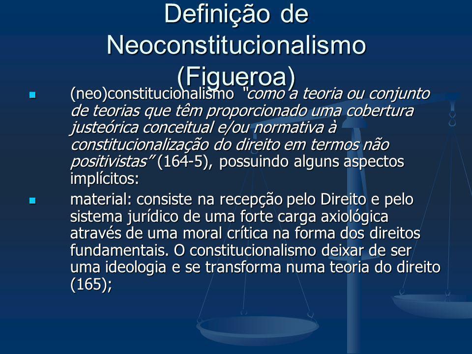 Definição de Neoconstitucionalismo (Figueroa)