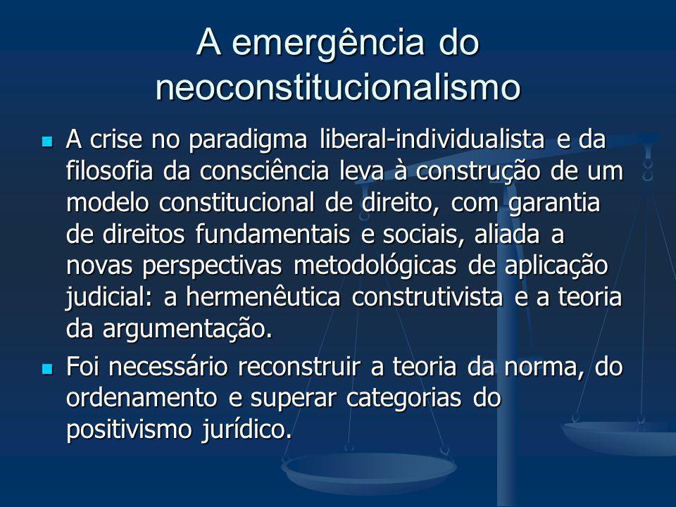 A emergência do neoconstitucionalismo