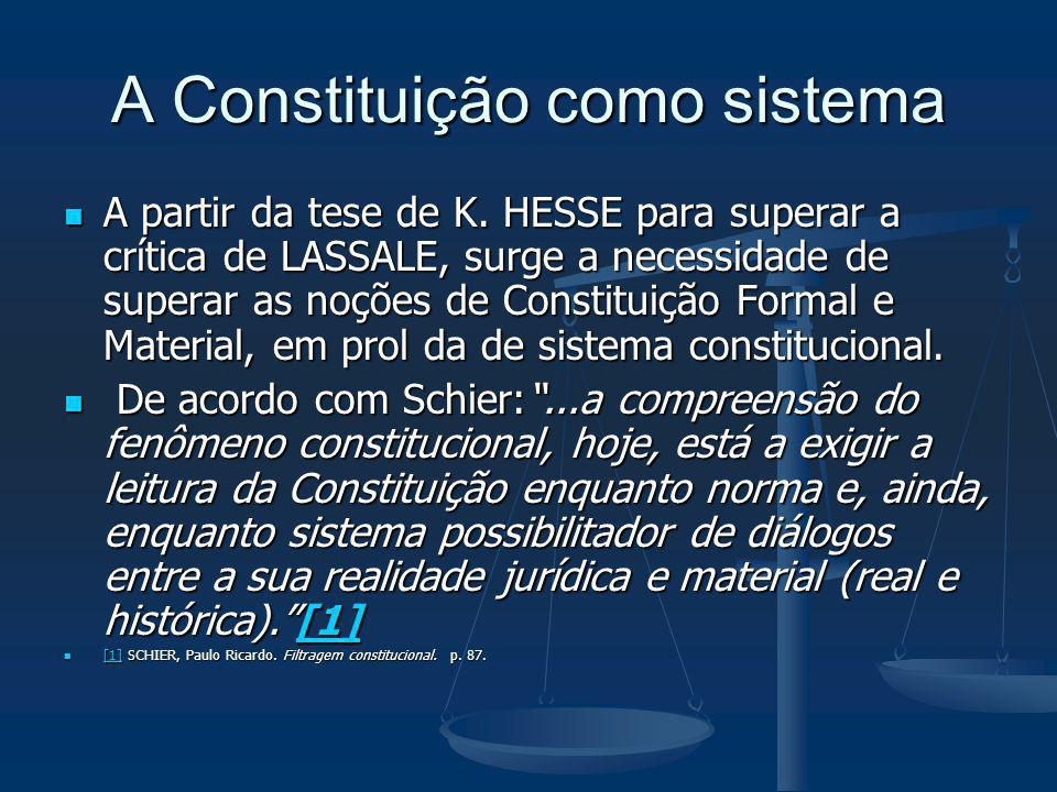 A Constituição como sistema