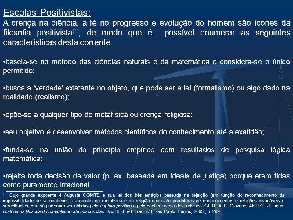 Escolas Positivistas: