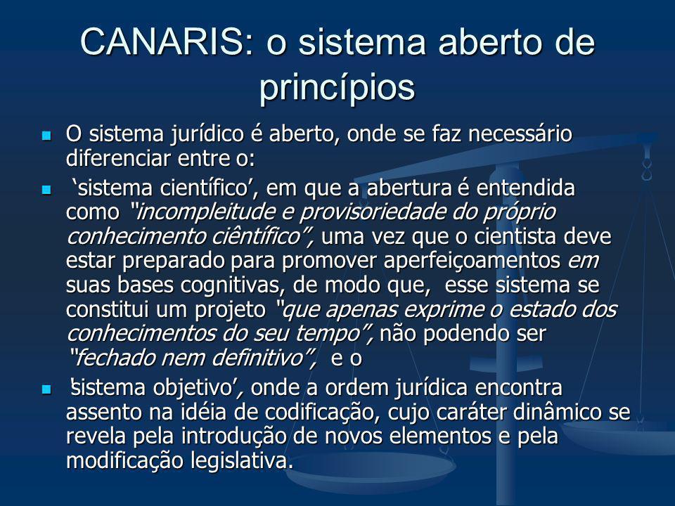 CANARIS: o sistema aberto de princípios