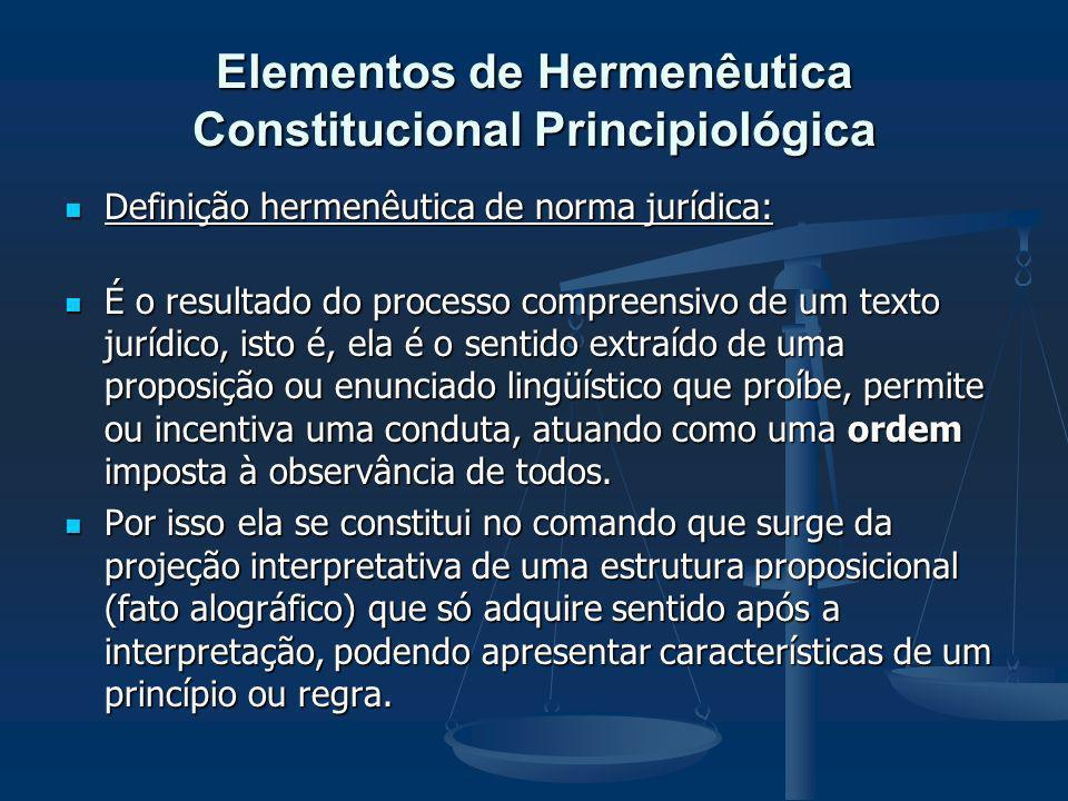 Elementos de Hermenêutica Constitucional Principiológica