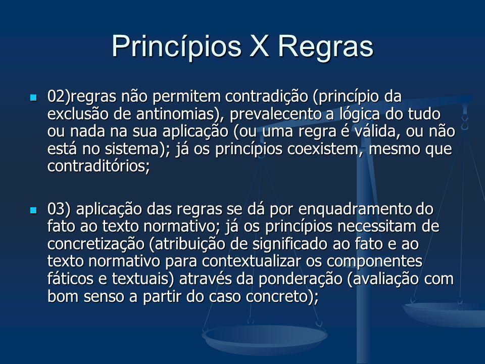 Princípios X Regras