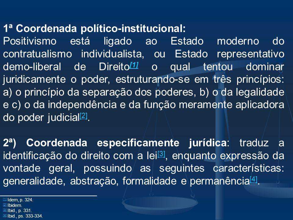 1ª Coordenada político-institucional: