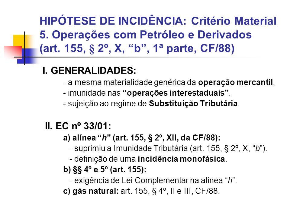 HIPÓTESE DE INCIDÊNCIA: Critério Material 5