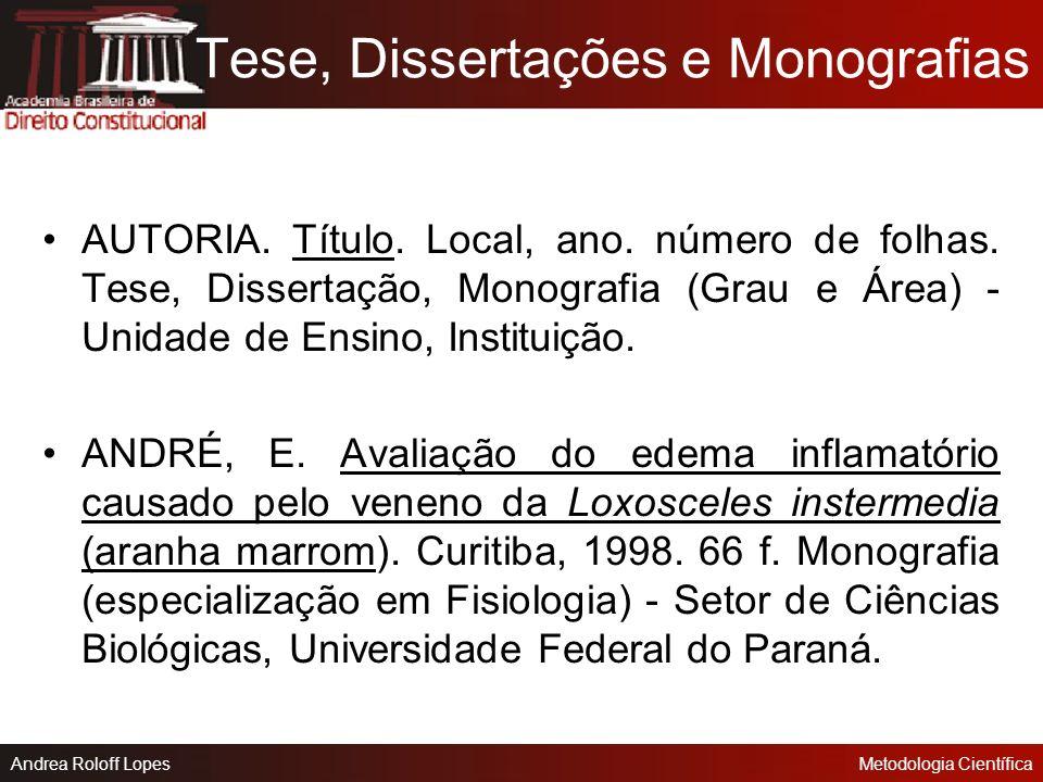 Tese, Dissertações e Monografias