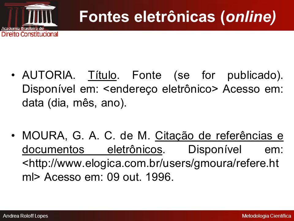 Fontes eletrônicas (online)