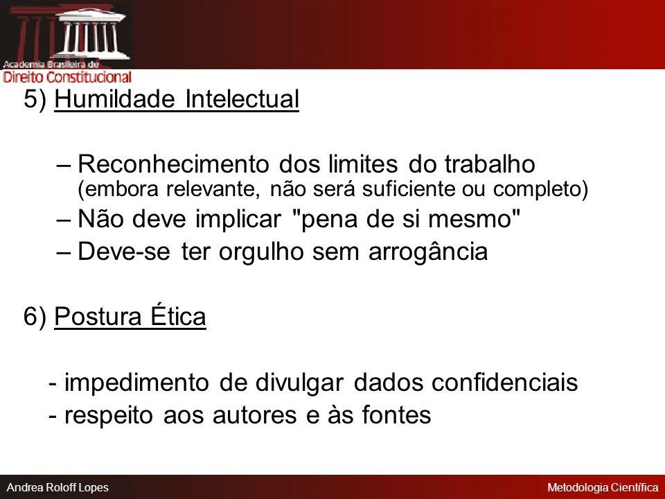 5) Humildade Intelectual