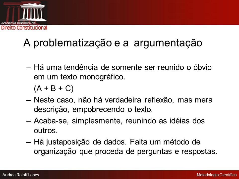 A problematização e a argumentação