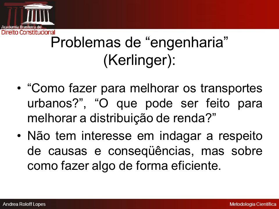 Problemas de engenharia (Kerlinger):