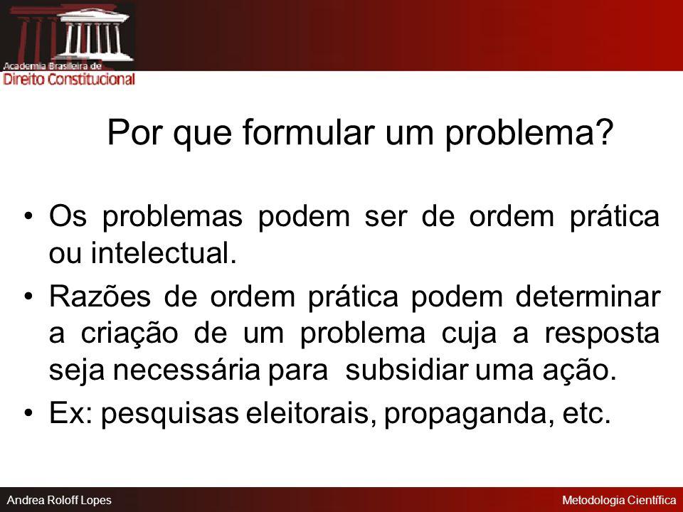 Por que formular um problema