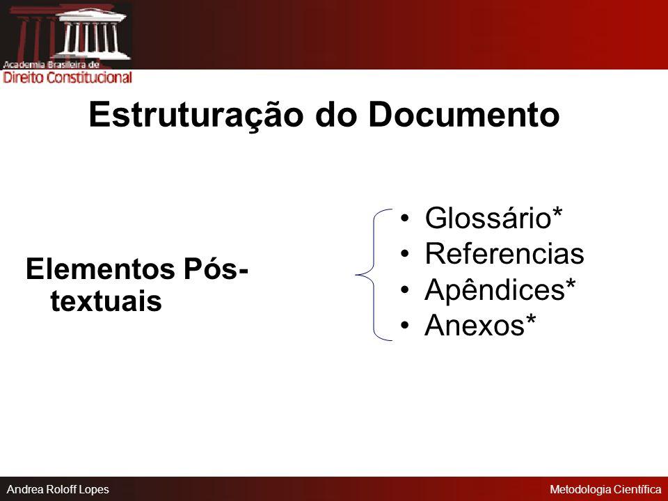Estruturação do Documento