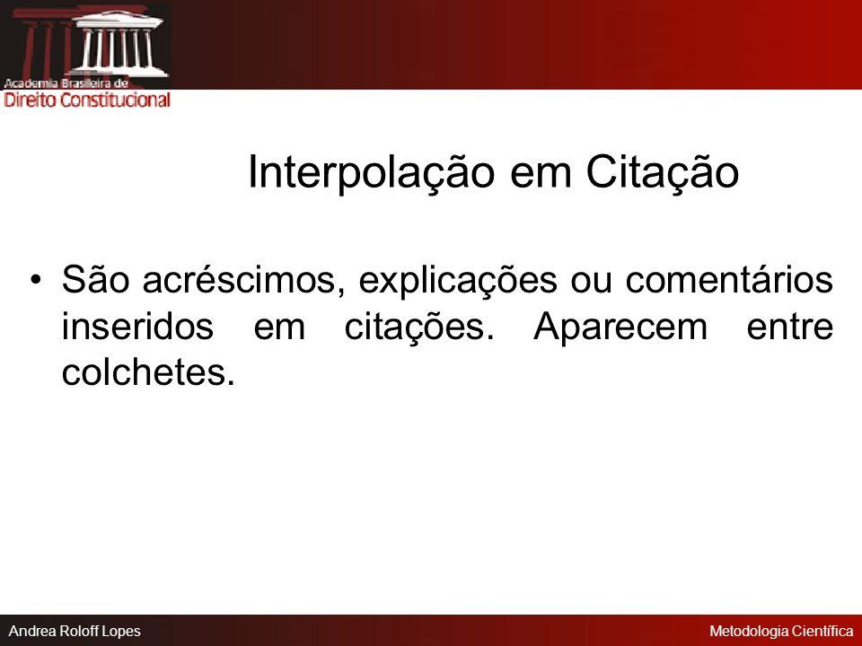 Interpolação em Citação