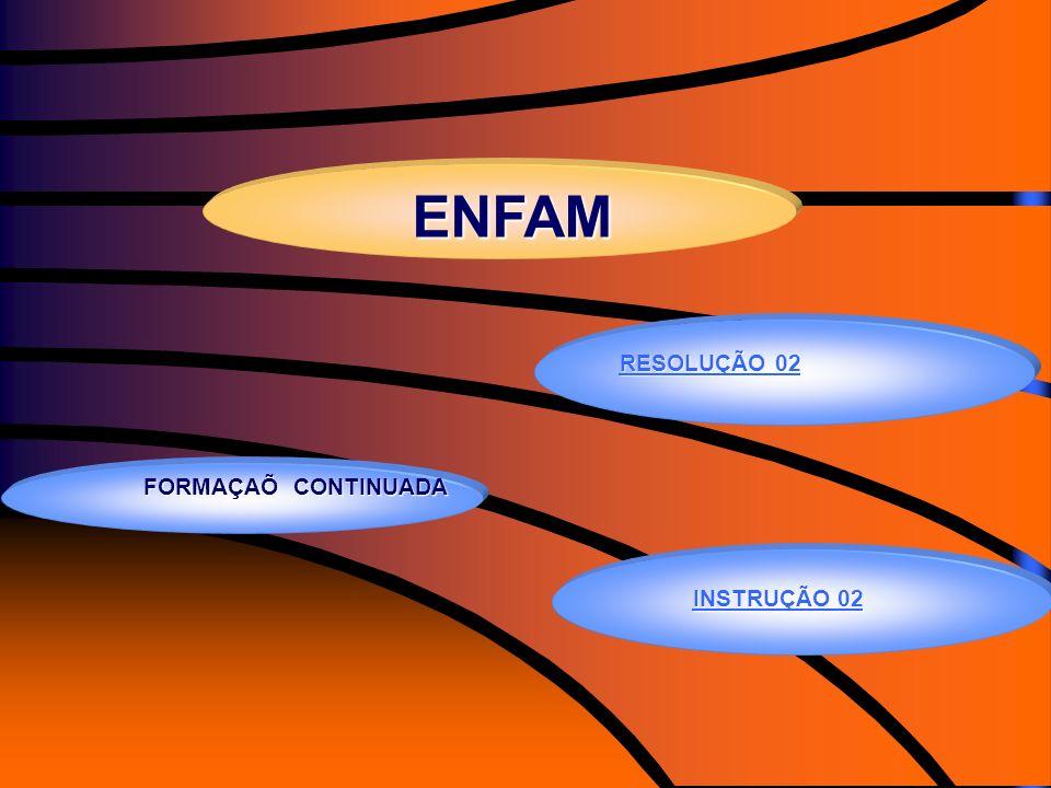 ENFAM RESOLUÇÃO 02 INSTRUÇÃO 02 FORMAÇAÕ CONTINUADA