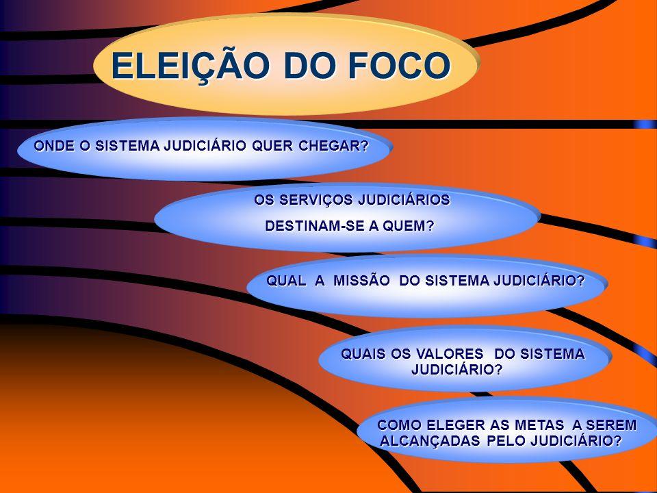 ELEIÇÃO DO FOCO ONDE O SISTEMA JUDICIÁRIO QUER CHEGAR