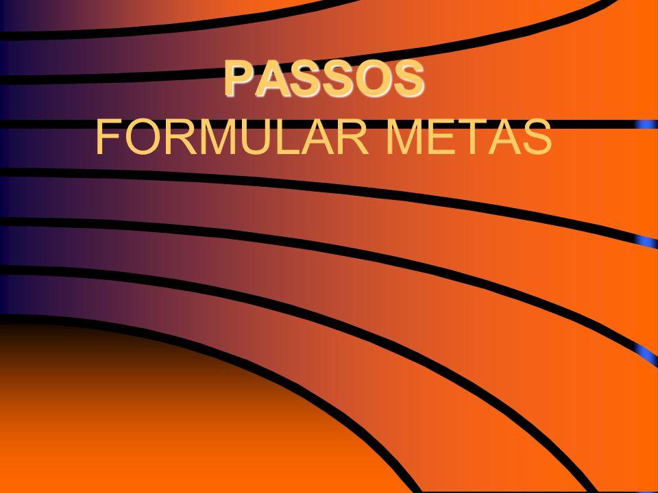 PASSOS FORMULAR METAS