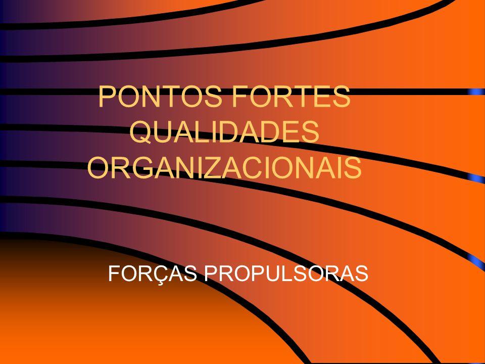 PONTOS FORTES QUALIDADES ORGANIZACIONAIS