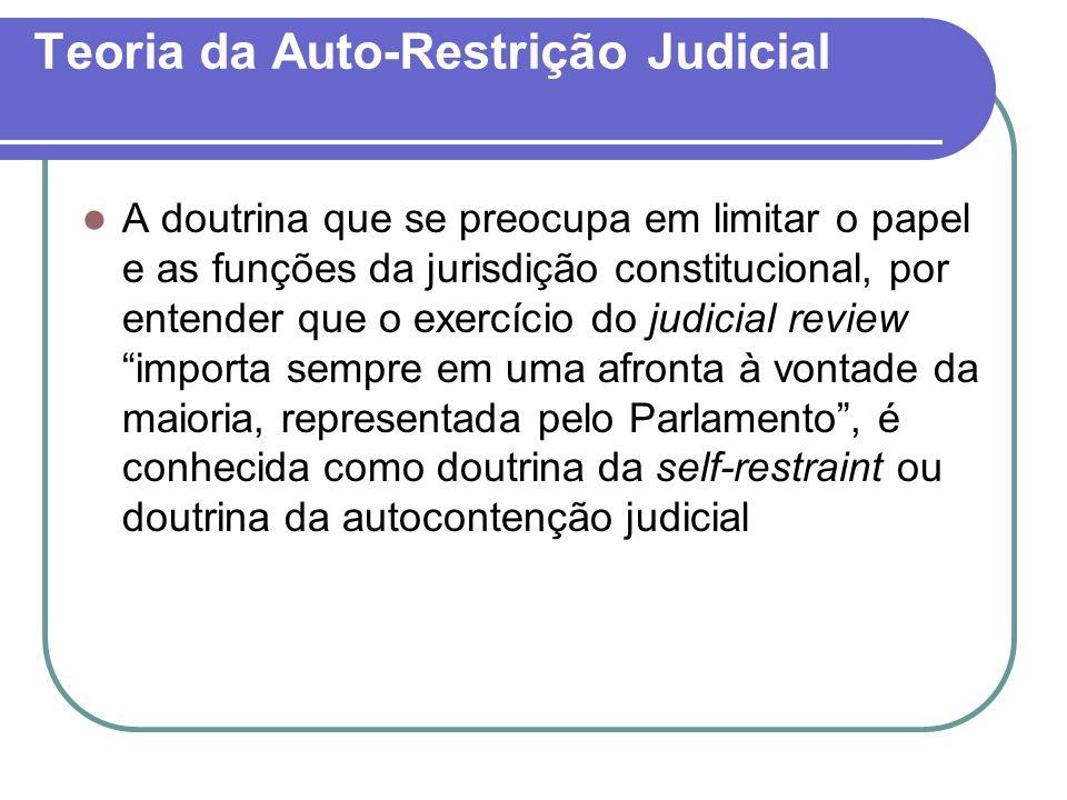Teoria da Auto-Restrição Judicial