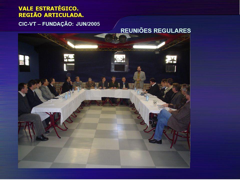 REUNIÕES REGULARES VALE ESTRATÉGICO. REGIÃO ARTICULADA.