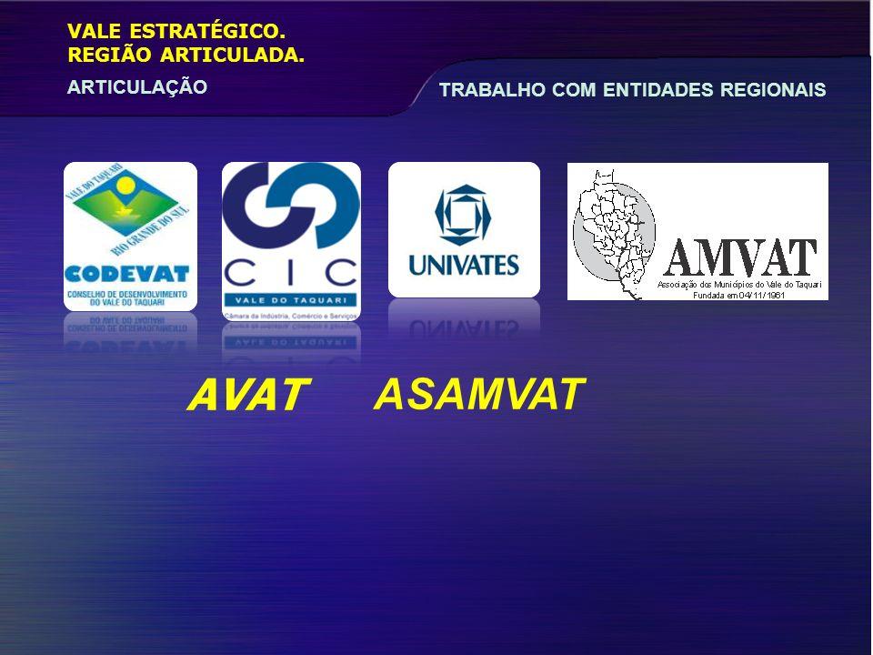 AVAT ASAMVAT VALE ESTRATÉGICO. REGIÃO ARTICULADA.