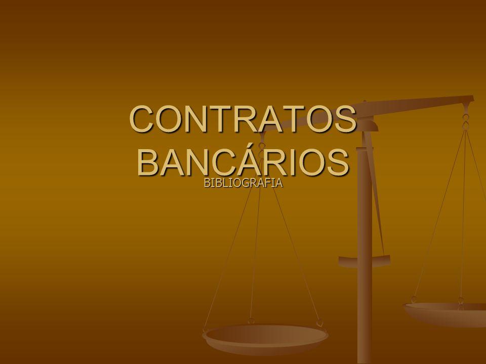 CONTRATOS BANCÁRIOS BIBLIOGRAFIA