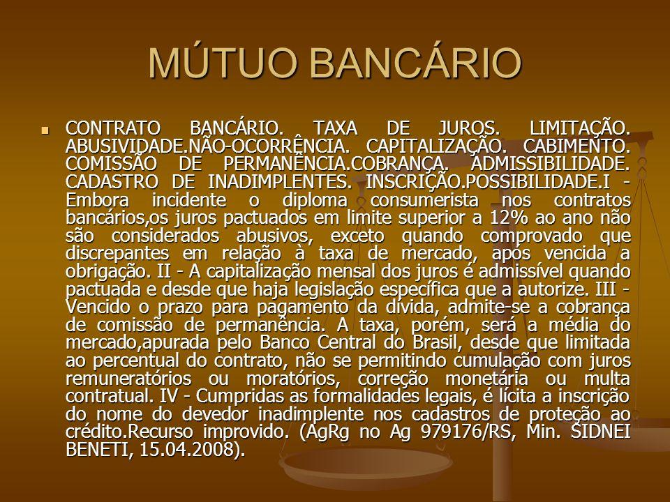 MÚTUO BANCÁRIO