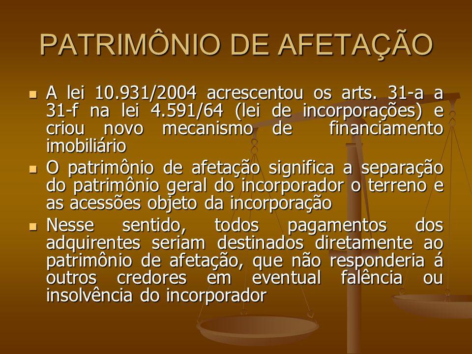 PATRIMÔNIO DE AFETAÇÃO