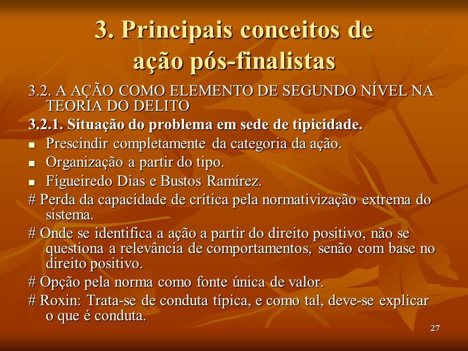 3. Principais conceitos de ação pós-finalistas
