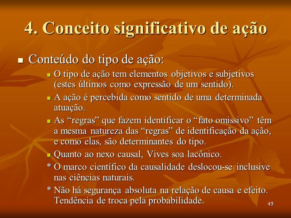 4. Conceito significativo de ação