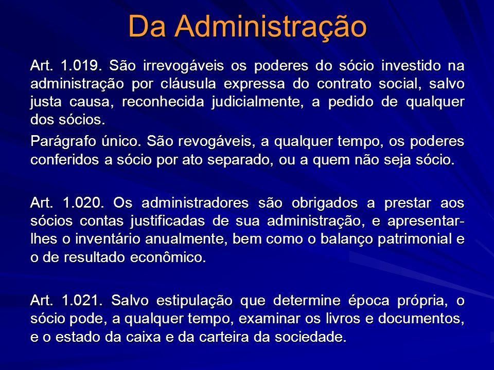 Da Administração