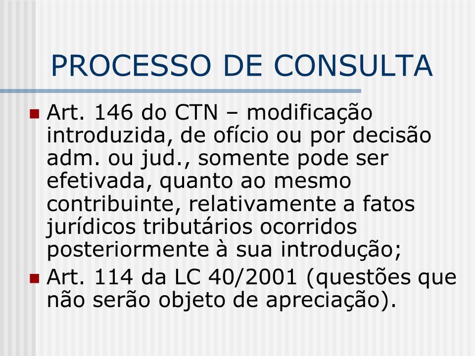PROCESSO DE CONSULTA