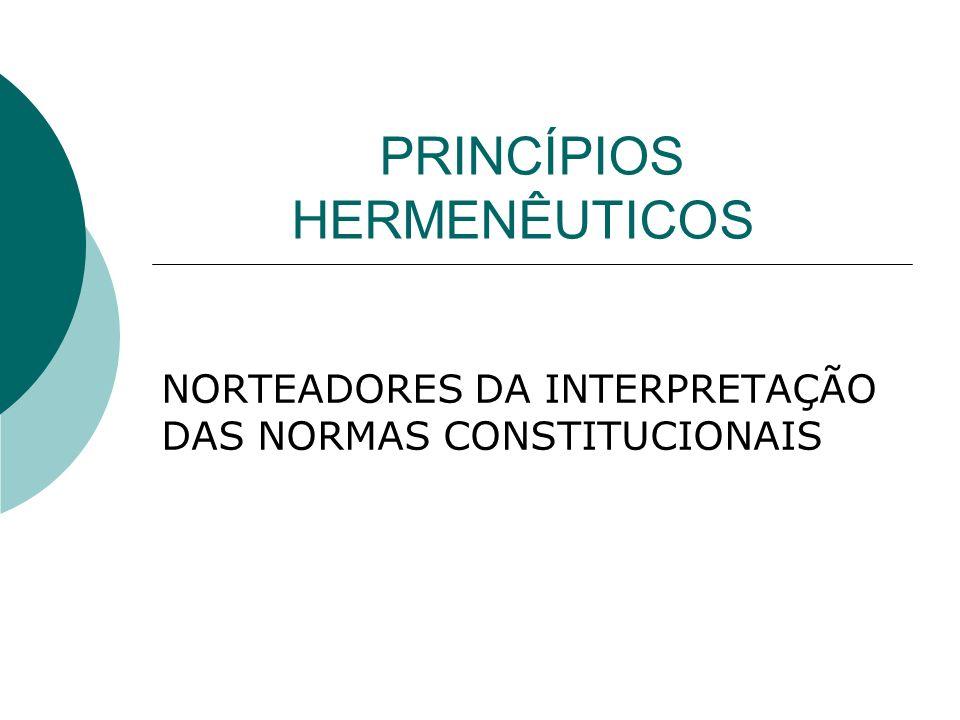 PRINCÍPIOS HERMENÊUTICOS