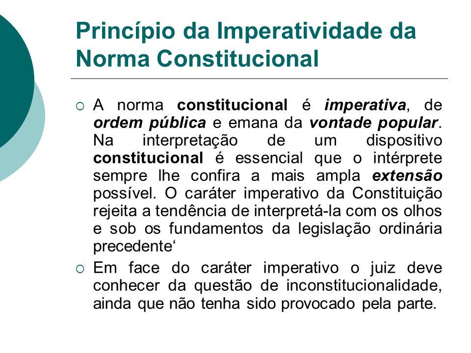 Princípio da Imperatividade da Norma Constitucional