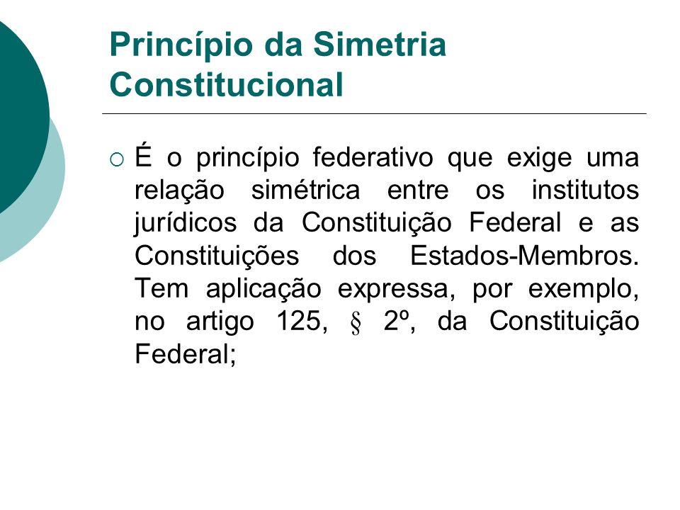 Princípio da Simetria Constitucional