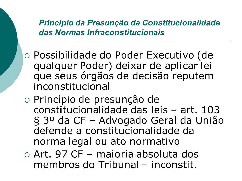 Art. 97 CF – maioria absoluta dos membros do Tribunal – inconstit.