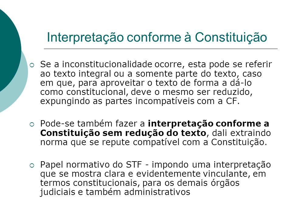 Interpretação conforme à Constituição