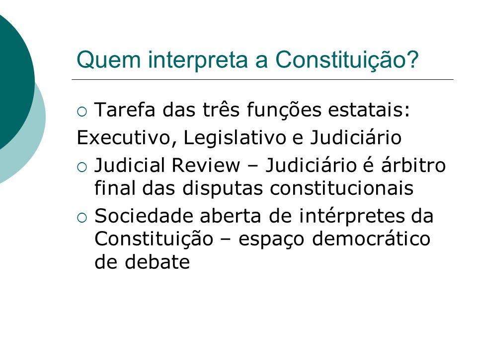Quem interpreta a Constituição