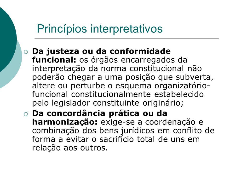 Princípios interpretativos