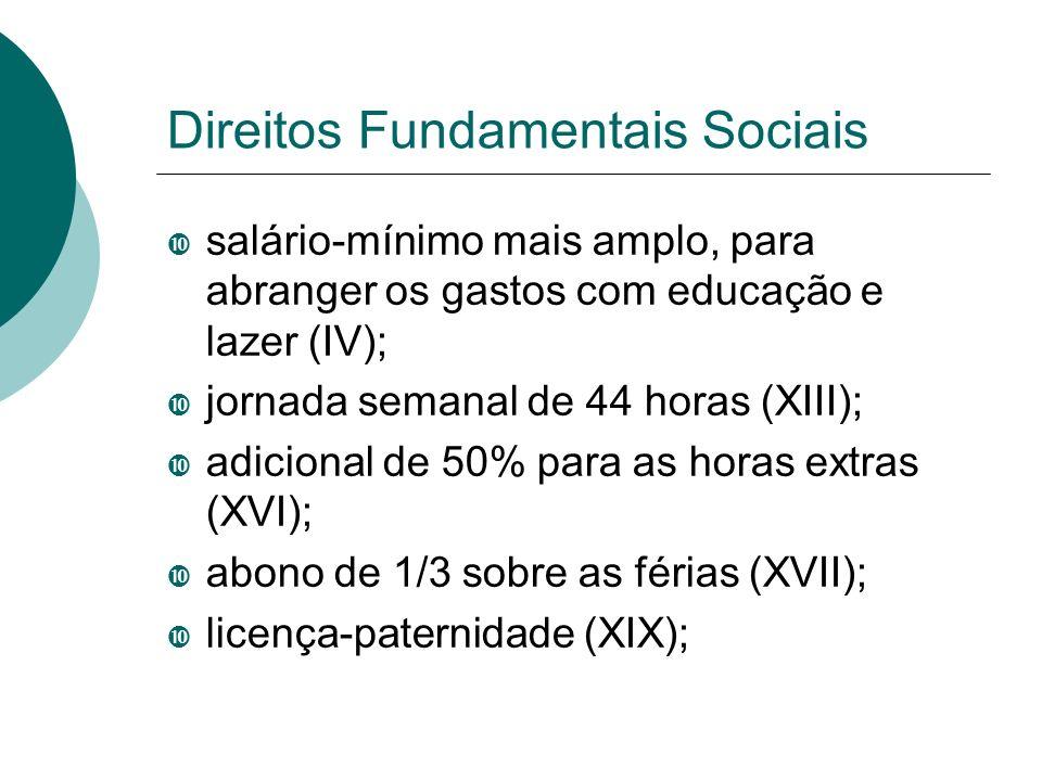 Direitos Fundamentais Sociais