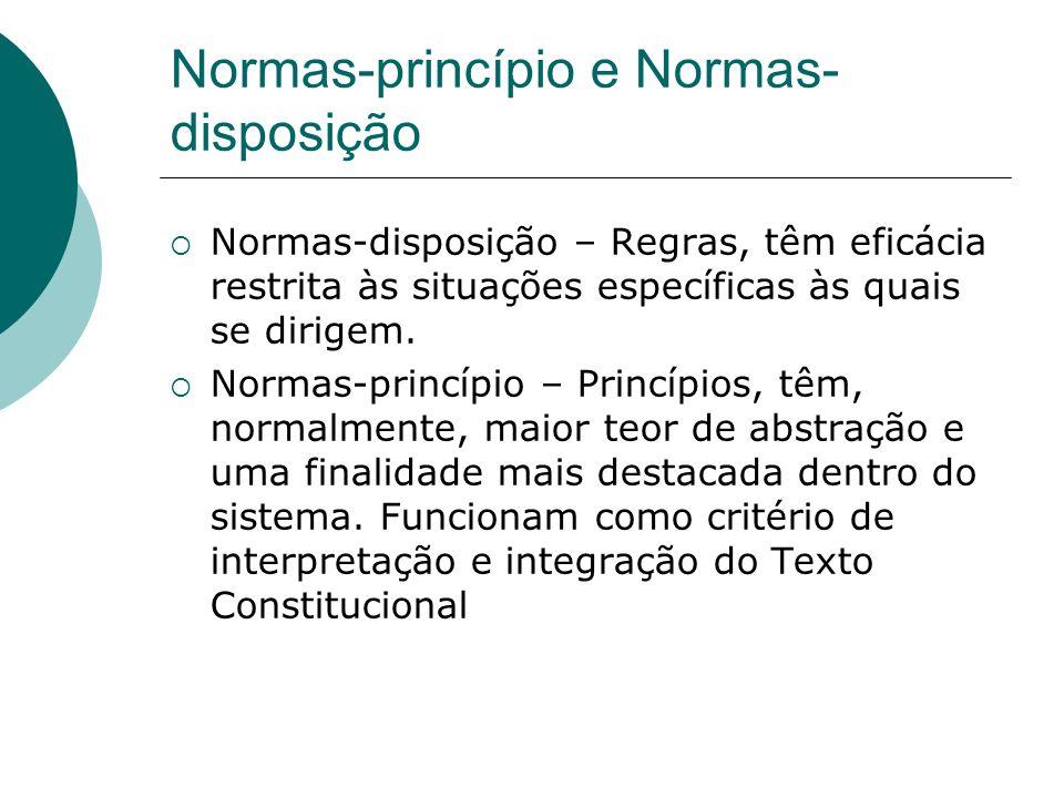 Normas-princípio e Normas-disposição