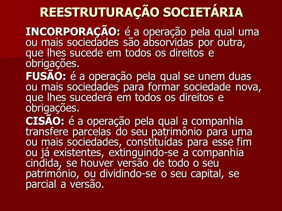 REESTRUTURAÇÃO SOCIETÁRIA