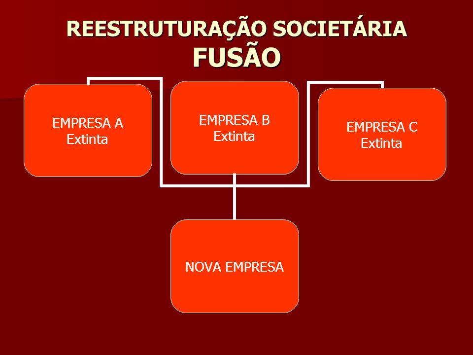 REESTRUTURAÇÃO SOCIETÁRIA FUSÃO