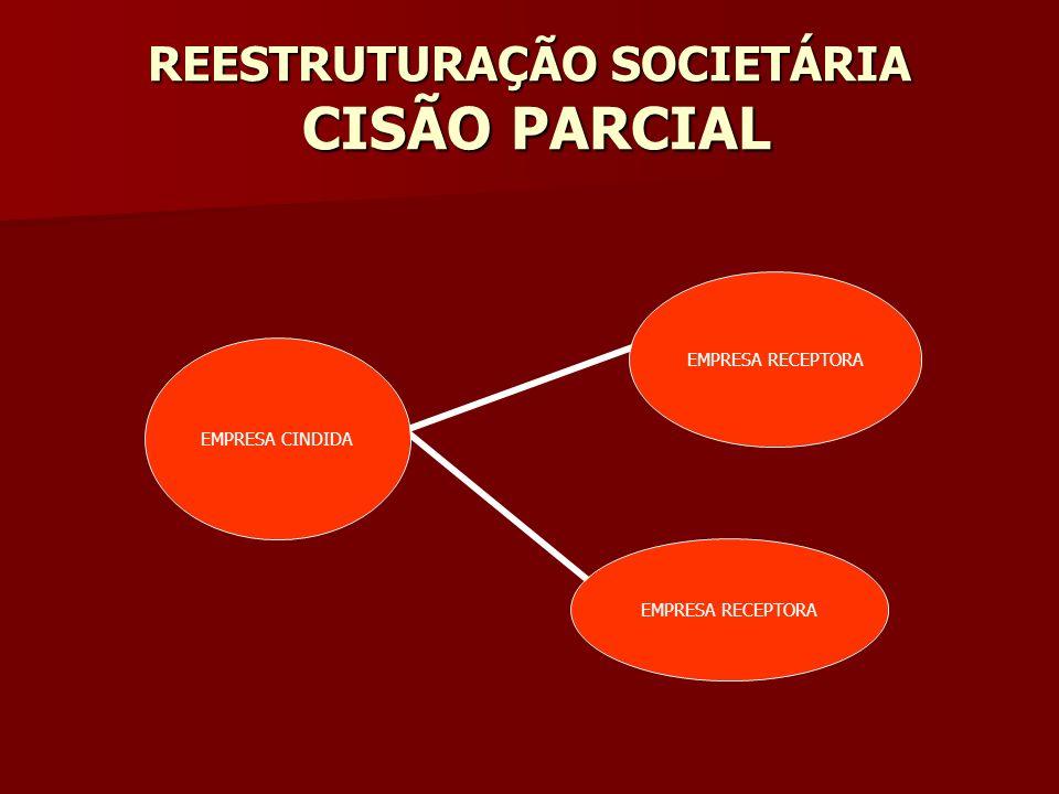 REESTRUTURAÇÃO SOCIETÁRIA CISÃO PARCIAL