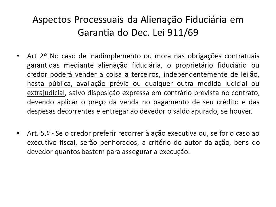 Aspectos Processuais da Alienação Fiduciária em Garantia do Dec